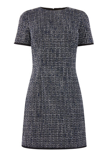 Warehouse, Tweed shiftjurk Bridget Blauw patroon 0