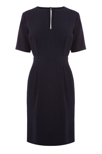 Warehouse, V FRONT DRESS Navy 0