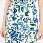 Warehouse, Botanical Drawn Floral Dress Neutral  Print 4