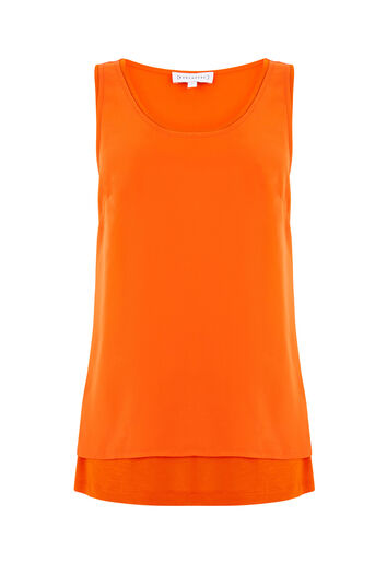 Warehouse, WOVEN FRONT VEST Orange 0
