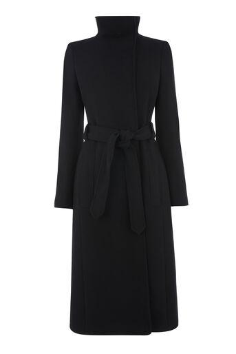 Warehouse, Longline Funnel Coat Black 0