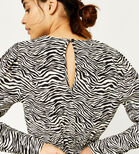 Warehouse, ZEBRA PRINT PUFF SLEEVE TOP Zebra 4