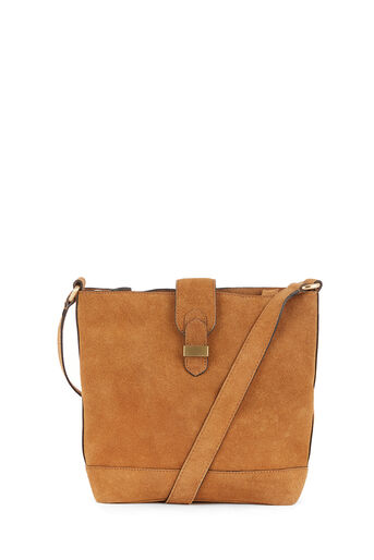 Warehouse, SLOUCHY SUEDE BUCKET BAG Tan 0
