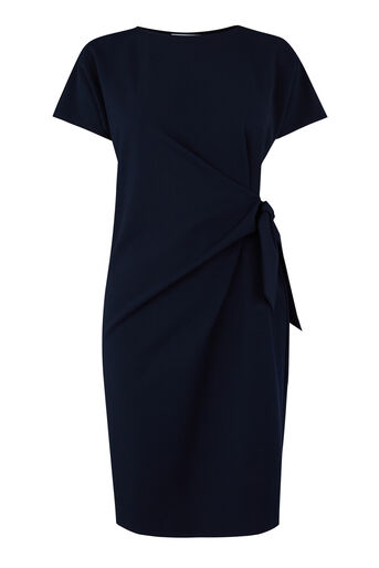 Warehouse, TIE SIDE TWILL DRESS Navy 0