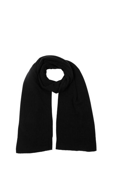 Warehouse, CASHMERE SCARF Black 0
