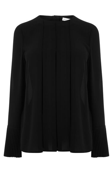 Warehouse, BOX PLEAT TOP Black 0