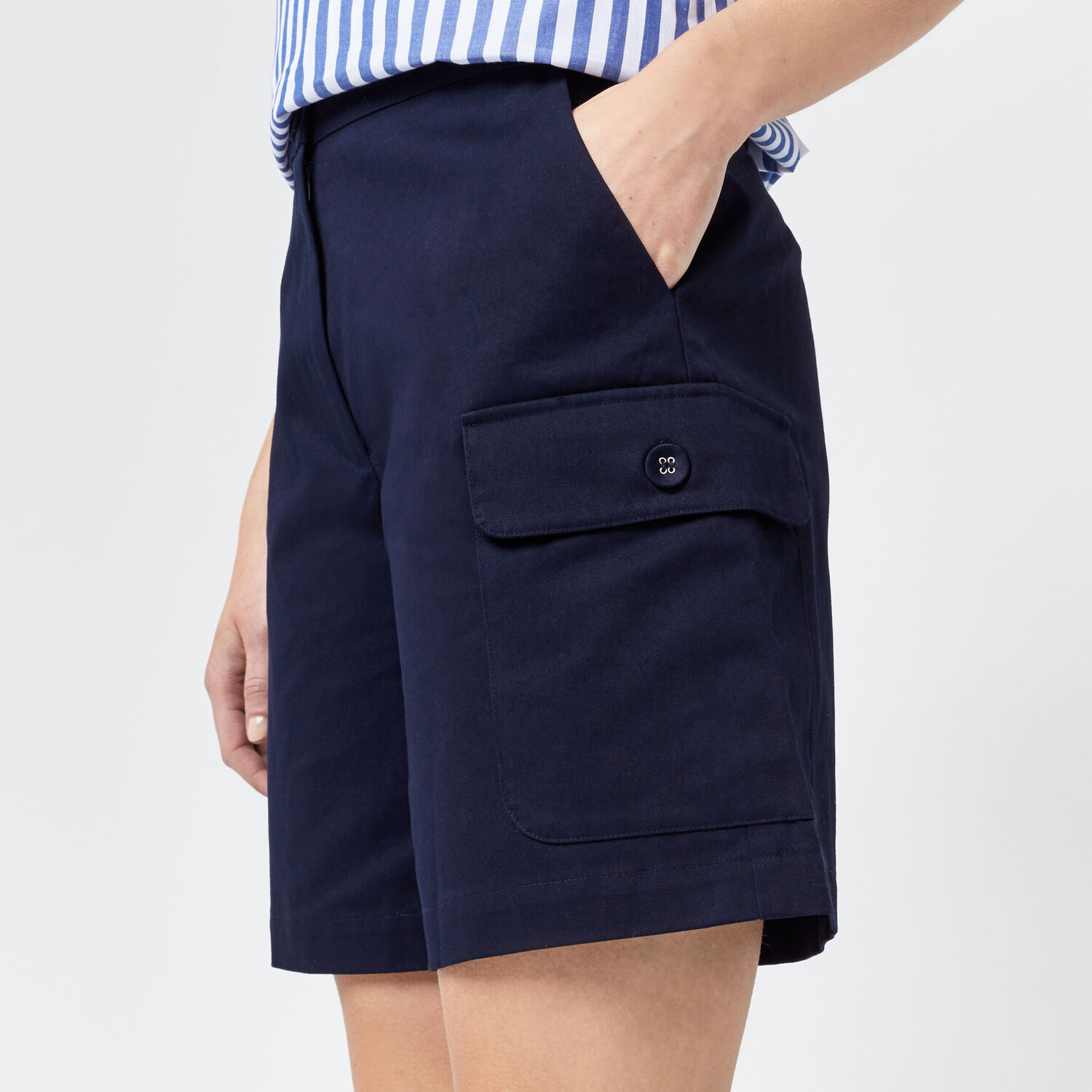 Warehouse, KNEE LENGTH SHORTS Navy 1