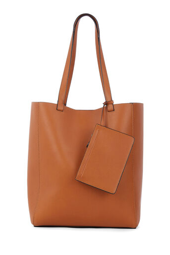 Warehouse, FOLDED STITCH SHOPPER Tan 0