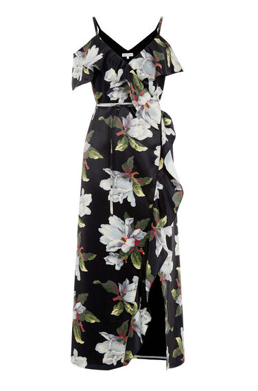Warehouse, MAGNOLIA WRAP DRESS Multi 0