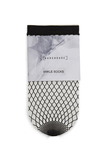 Warehouse, FISHNET SOCK Black 0