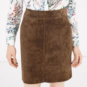 Warehouse, Suede Skirt Brown 4
