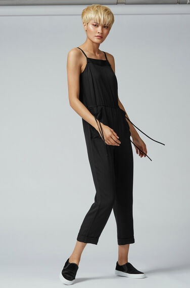 Warehouse, UTILITY DRAWSTRING JUMPSUIT Black 1
