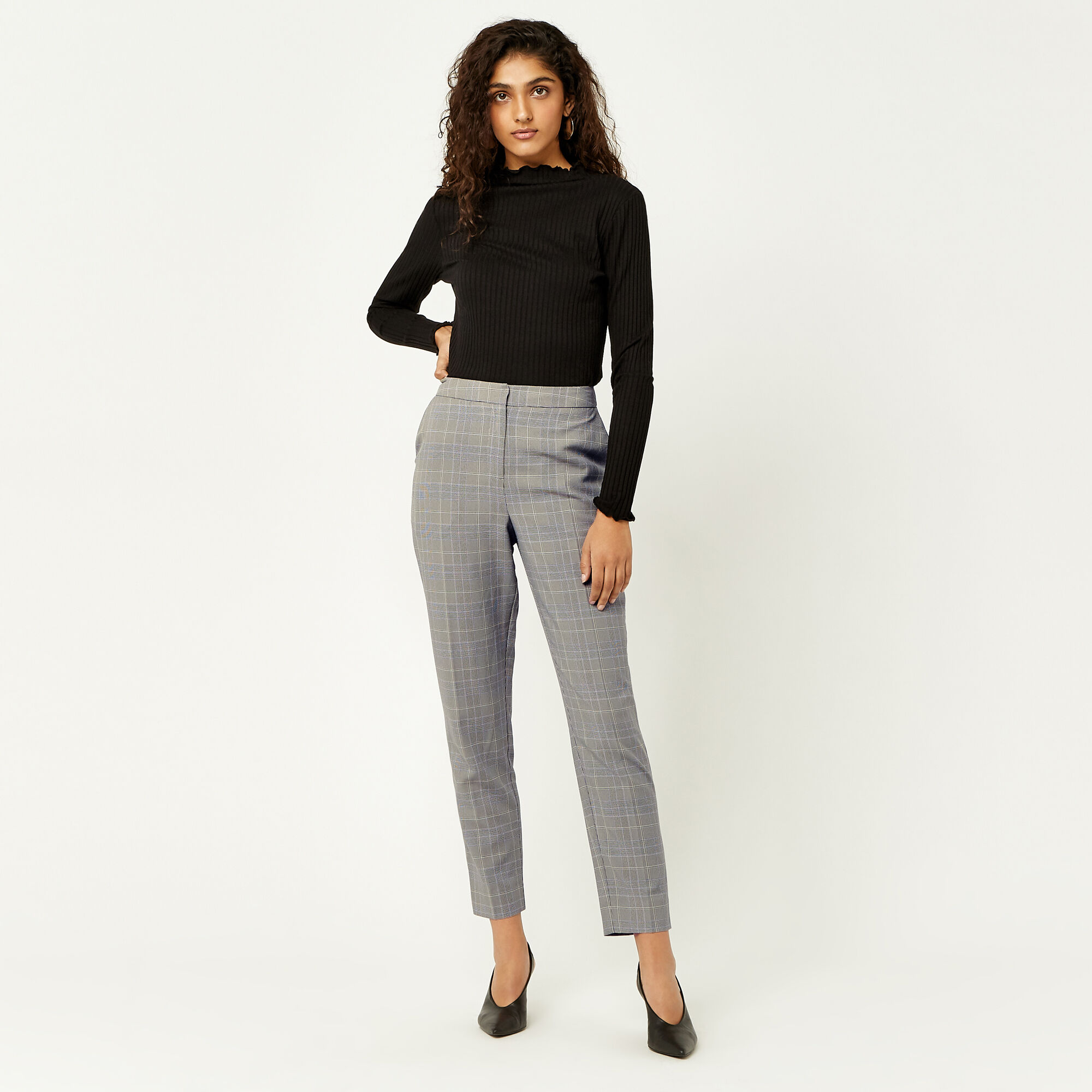 Warehouse, HERITAGE CHECK TROUSERS Multi 1