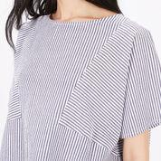 Warehouse, Stripe Cotton T-Shirt Blue Stripe 4