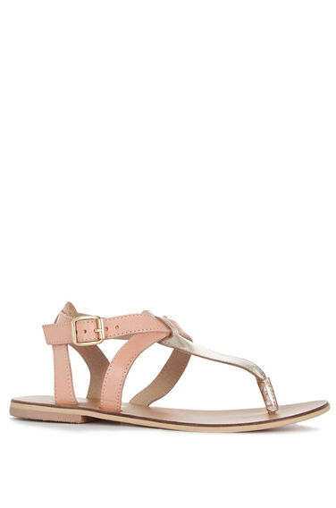 Warehouse, Ankle Strap Toe Post Sandal Beige 0