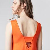 Warehouse, STRAP BACK SWING DRESS Orange 4