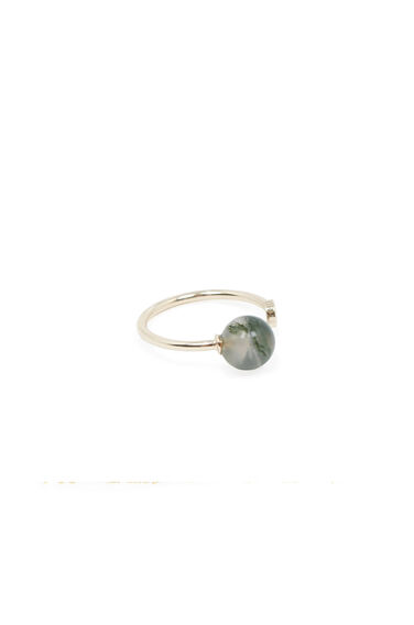 Warehouse, STONE CIRCLE RING Gold Colour 0