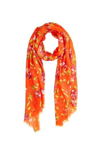 Warehouse, Foulard à imprimé azalées grimpantes Orange 0