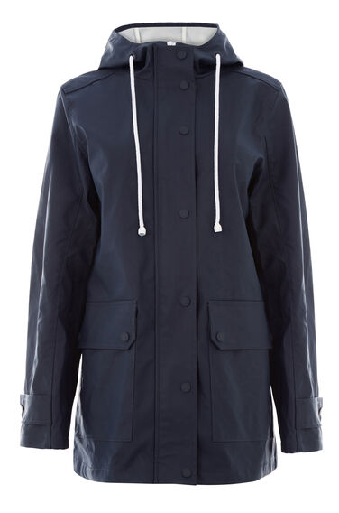Warehouse, Contrast Trim Anorak Navy 0