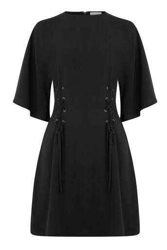 Warehouse, Zwierige jurk met korset Zwart 0