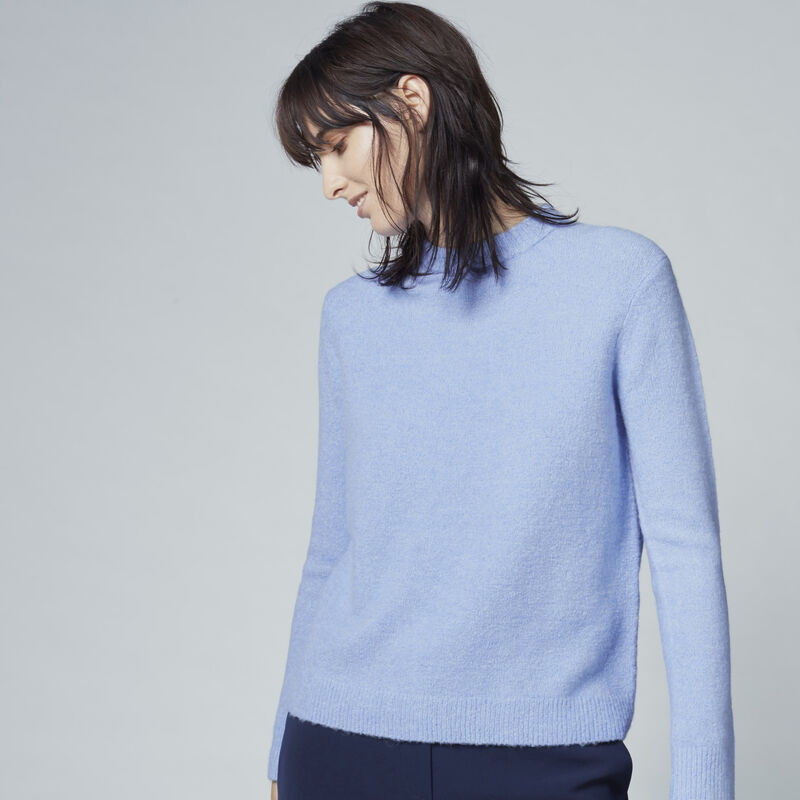 Warehouse, BOUCLE CREW JUMPER Light Blue 1