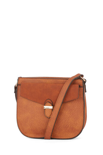Warehouse, POCKET DETAIL SADDLE CROSSBODY Tan 0