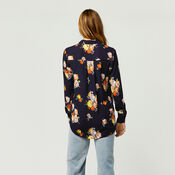 Warehouse, VICTORIA FLORAL SHIRT Navy 3