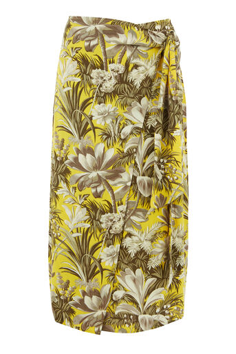Warehouse, AMAZON PRINT SKIRT Yellow 0
