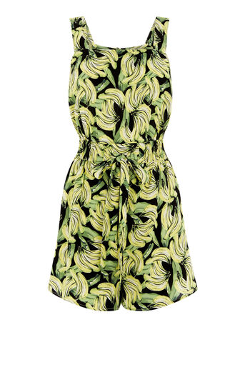 Warehouse, BANANA PRINT BEACH PLAYSUIT Multi 0