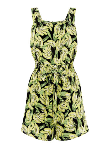 Warehouse, BANANA PRINT PLAYSUIT Multi 0