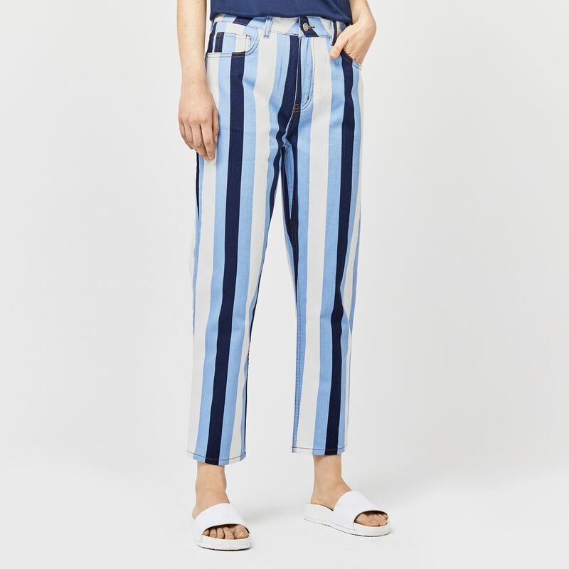 Warehouse, Stripe Straight Cut Jean Multi 1