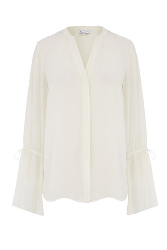 Warehouse, BELL SLEEVE BLOUSE Cream 0