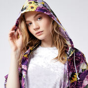 Warehouse, Peony Pop Windbreaker Purple Pattern 1