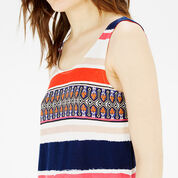 Warehouse, AZTEC STRIPE PRINTED VEST Multi 4