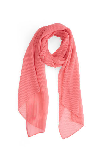 Warehouse, PLEATED LIGHTWEIGHT SCARF Light Pink 0