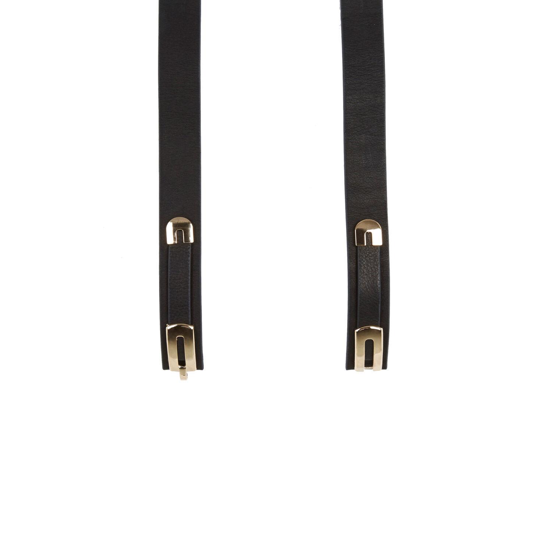 Warehouse, Leather Metal Detail Belt Black 1