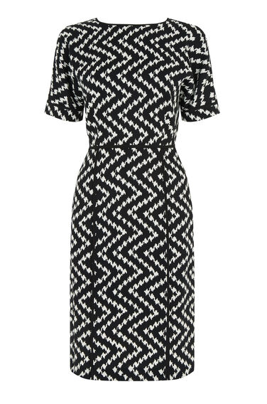 Warehouse, Zig Zag Dress Multi 0