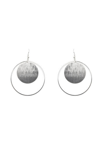 Warehouse, CIRCLE AND DISC EARRINGS Silver Colour 0