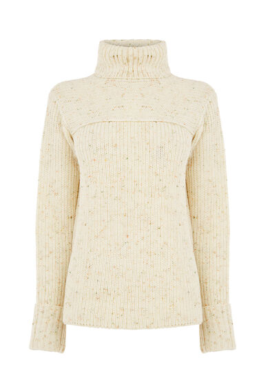 Warehouse, NEP ROLL NECK JUMPER Cream 0