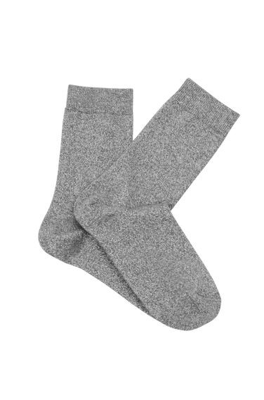Warehouse, Shimmer Metallic Socks Light Grey 0
