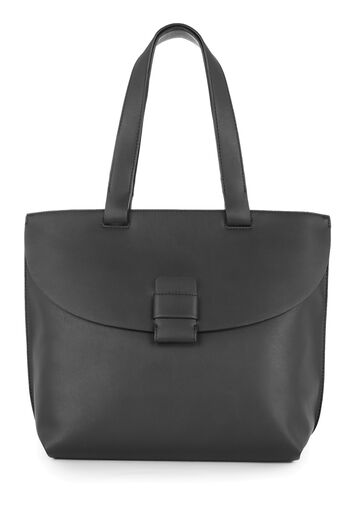 Warehouse, STITCH TAB CITY SHOPPER BAG Black 0