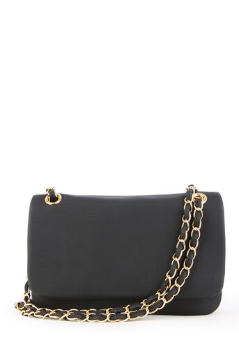 Warehouse, WEAVED CHAIN STRAP CROSSBODY Black 0