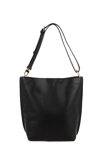Warehouse, Bonded Hobo Shopper Bag Black 0