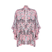 Warehouse, TIGER PRINTED KIMONO Light Pink 0