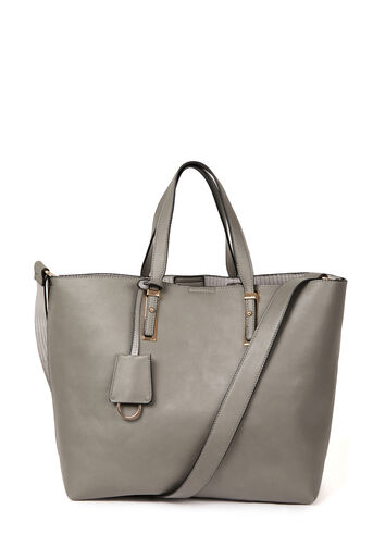 Warehouse, MINI SHOPPER BAG Dark Grey 0