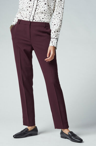 Warehouse, SLIM LEG TROUSERS Dark Red 1