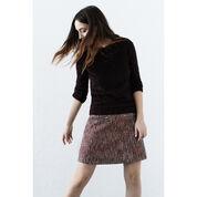 Warehouse, Sparkle Tweed Pelmet Skirt Red Pattern 4