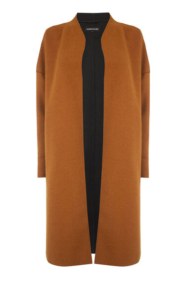 Warehouse, Bonded Swing Coat Orange 0