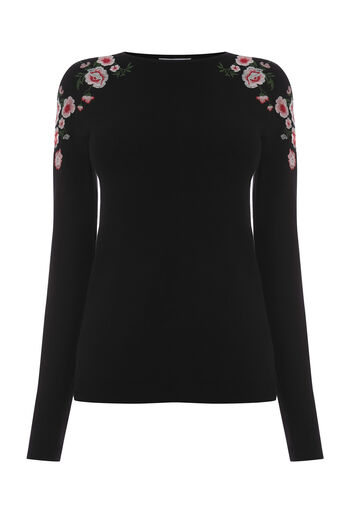 Warehouse, MARIANNE FLORAL JUMPER Black 0