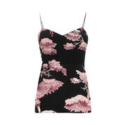 Warehouse, ORIENTAL FOREST SILK CAMI Purple Pattern 0